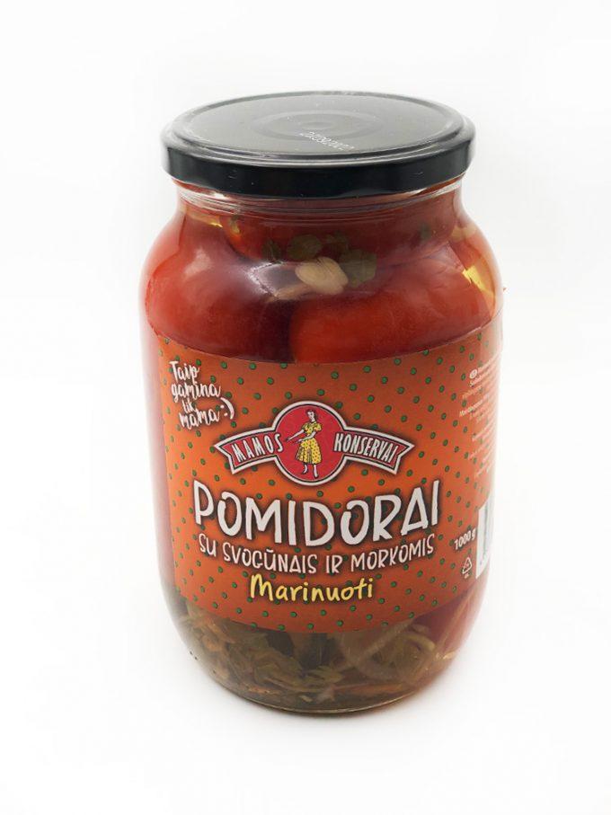Marinuoti pomidorai su svogūnais ir morkomis. Mėsos krautuvėlė internete