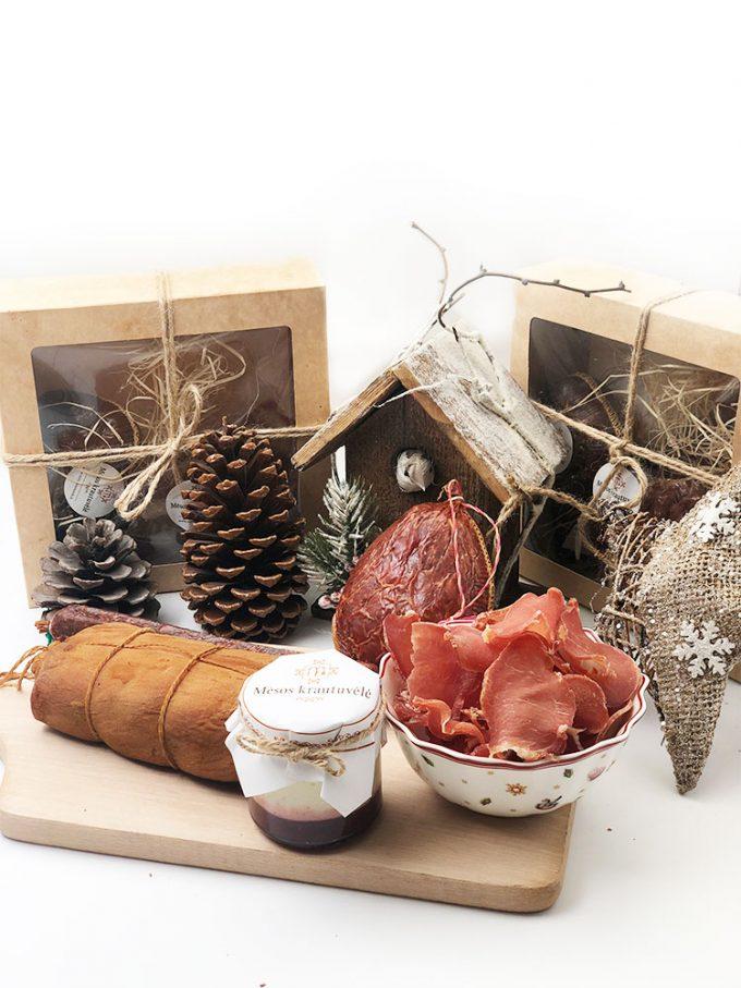 Šventinis rinkinys dovanoms. Mėsos gaminiai internetu